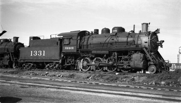 2-8-0 1331 at Fort Smith, Arkansas on November 3, 1950 (Arthur B. Johnson)