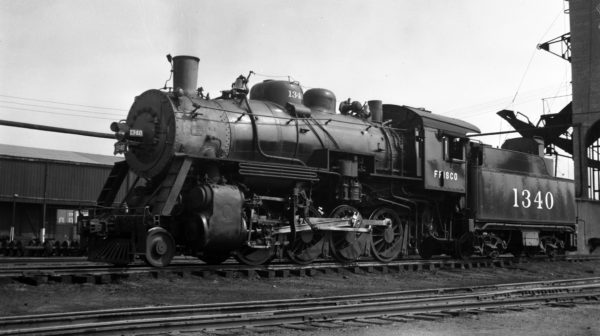 2-8-0 1340 at Fort Smith, Arkansas on December 30, 1947 (Arthur B. Johnson)