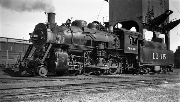 2-8-0 1345 at Fort Smith, Arkansas on October 2, 1951 (Arthur B. Johnson)