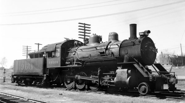 2-8-0 963 at Springfield, Missouri in July 1946 (Arthur B. Johnson)