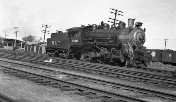 2-8-0 987 at Fort Smith, Arkansas on May 21. 1943 (Charlie Winters)