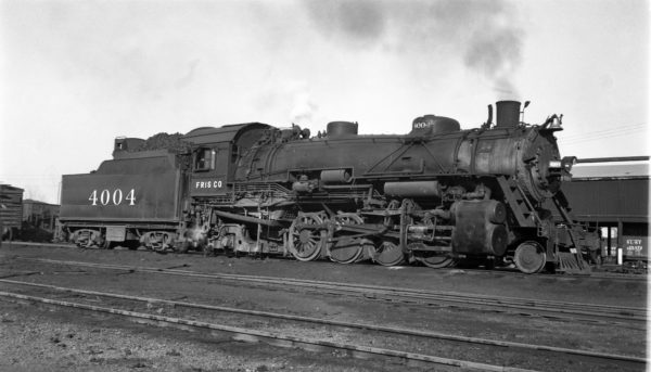 2-8-2 4004 at Fort Smith, Arkansas on November 1, 1950 (Arthur B. Johnson)