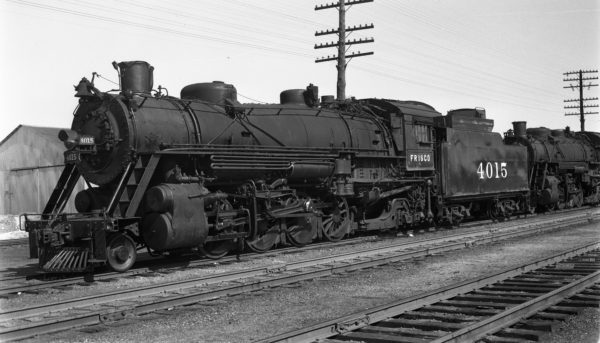 2-8-2 4015 at Monett, Missouri on February 19, 1950