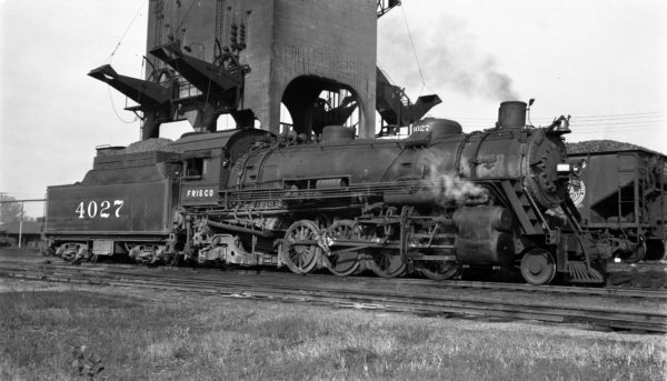 2-8-2 4027 at Fort Smith, Arkansas on August 23, 1948 (Charlie Winters)