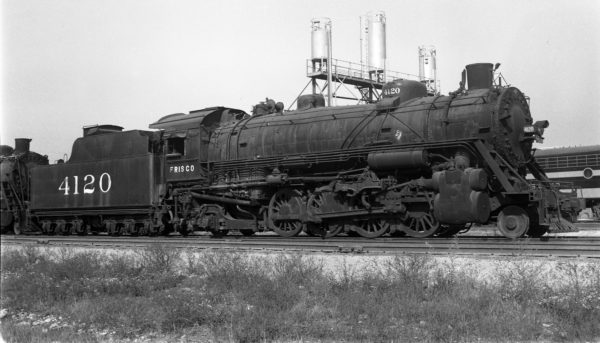 2-8-2 4120 at Springfield, Missouri on October 19, 1952 (Arthur B. Johnson)