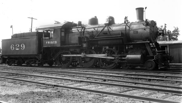 4-6-0 629 at Muskogee, Oklahoma on May 24, 1940
