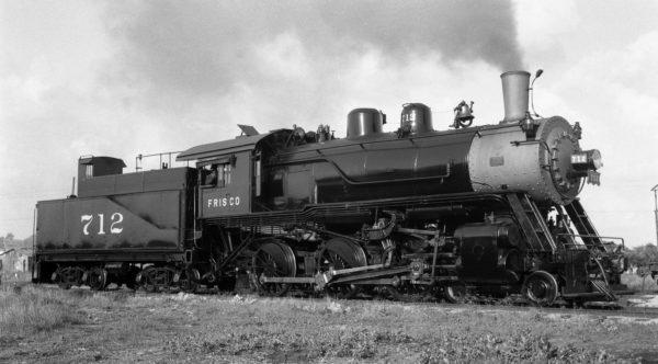 4-6-0 712 at Enid, Oklahoma on May 26, 1939 (Ralph Graves)