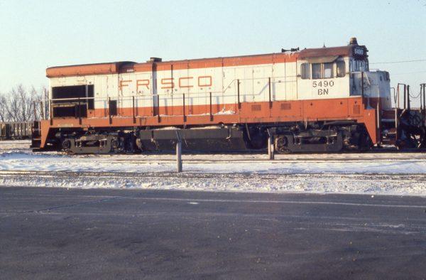 B30-7 5490 (Frisco 868) at Lincoln, Nebraska in February 1981 (J.C. Butcher)