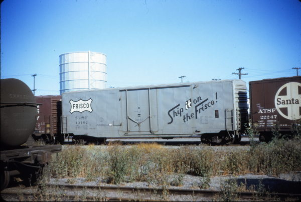 Boxcar 13102 at San Francisco, California in August 1971