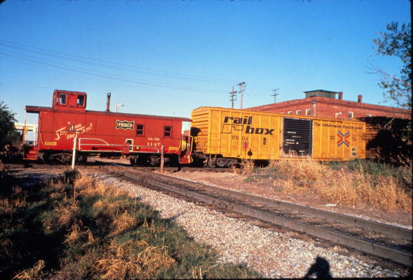 Caboose 1147 at Muskogee, OK (date unknown)