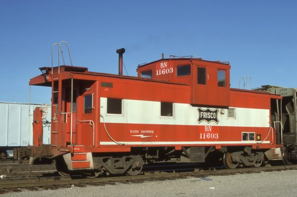 Caboose 11603 (Frisco 1275) at Kansas City, Missouri on December 14, 1980 (J.F. Primm)