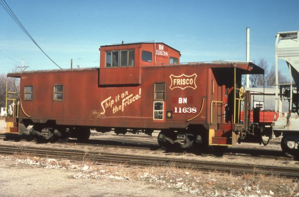 Caboose 11638 (Frisco 1408) (date and location unknown)