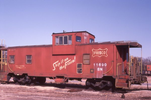 Caboose 11690 (Frisco 1715) at Springfield, Missouri on January 15, 1983 (Chris Manthey)
