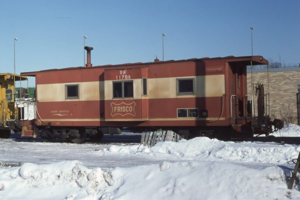 Caboose 11708 (Frisco 1733) at  Minneapolis, Minnesota on February 9, 1981 (Rik Anderson)
