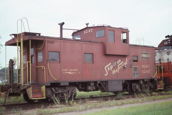 Caboose 1247 at Chelsea, Oklahoma on August 19, 1977