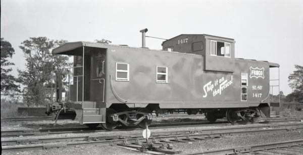 Caboose 1417 at North Clinton, Missouri on September 4, 1975
