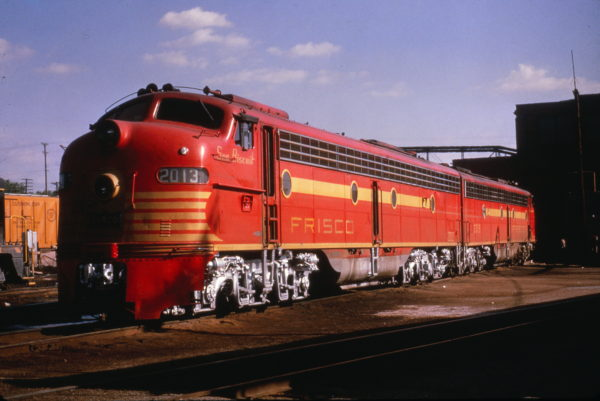 E8A 2013 (Sea Biscuit) and E8A 2015 (Twenty Grand) at the St. Louis Engine Terminal in February 1965 (Al Chione)
