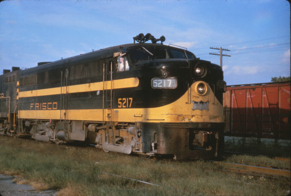 FA-1 5217 on a freight at Cherokee, Kansas on October 14, 1962 (Al Chione)