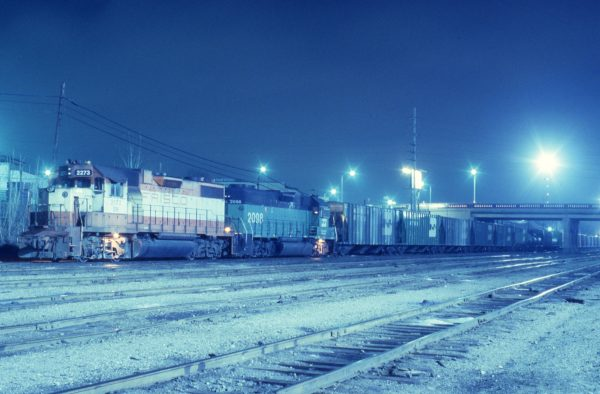 GP38-2 2273 (Frisco 418) at St. Louis, Missouri on February 24, 1982 (P.B. Wendt)