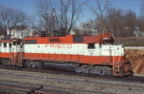 GP38-2 2305 (Frisco 450) at Springfield, Missouri on January 4, 1981 (J.B. Holder Photos)