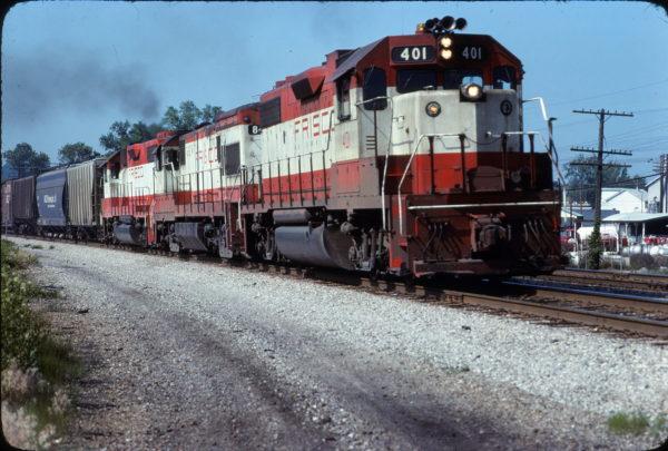 GP38-2 401 at Valley Park, Missouri in June 1978 (Paul Dalman)