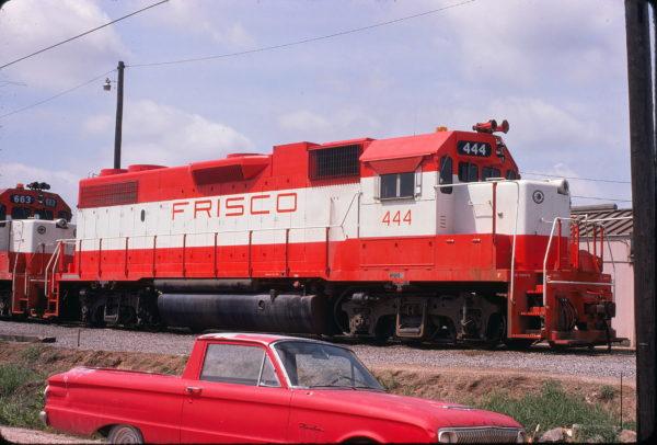 GP38-2 444 at Mobile, Alabama on June 7, 1975