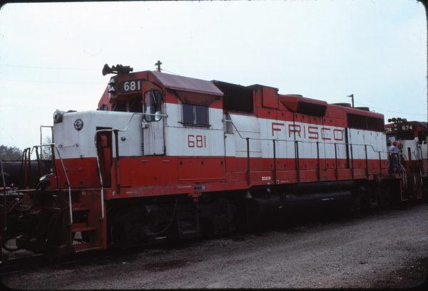 GP38-2 681 at Oklahoma City, Oklahoma in November 1978