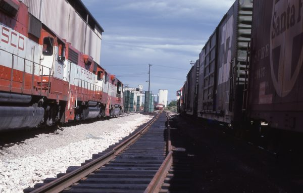 GP38-2s 452 and 417 at Springfield, Missouri on August 25, 1979