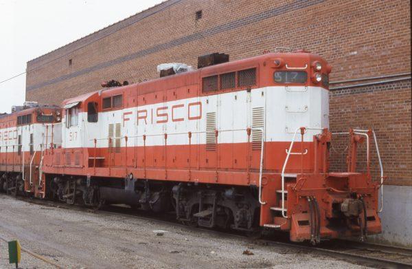 GP7 517 at Oelwein, Iowa on April 2, 1980