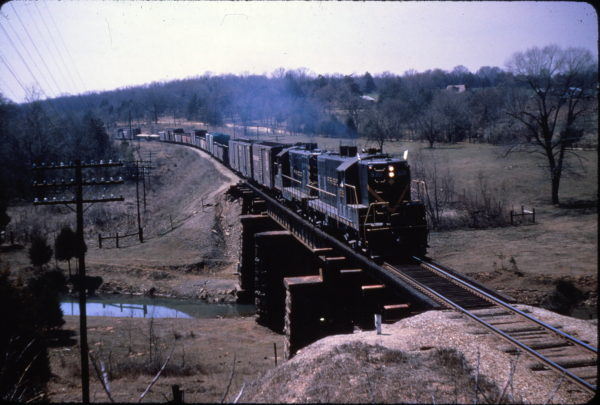 GP7 535 at Van Buren, Arkansas on March 31, 1964