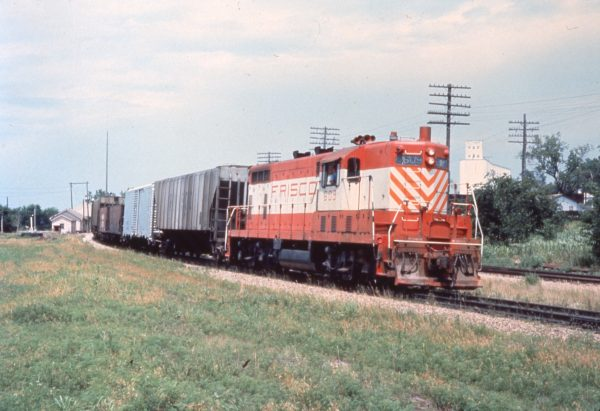 GP7 609 at Paola, Kansas in June 1973