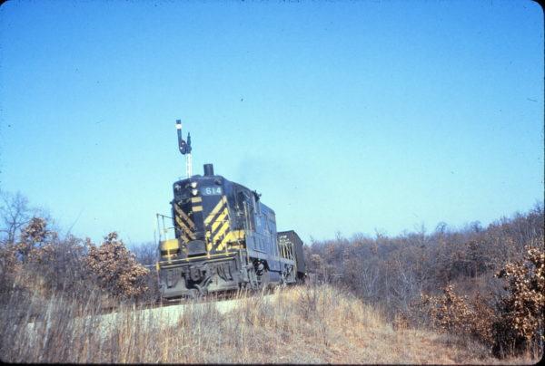 GP7 614 at Bonanza, Arkansas on December 28, 1964