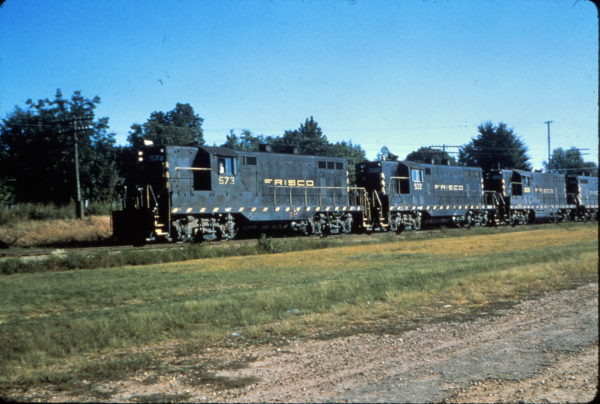 GP7s 573, 532 and 605 at Van Buren, Arkansas on September 12, 1964
