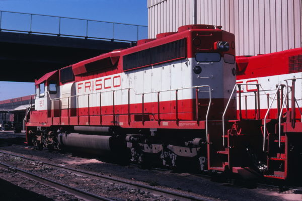 SD40-2 957 at Springfield, Missouri on September 18, 1978