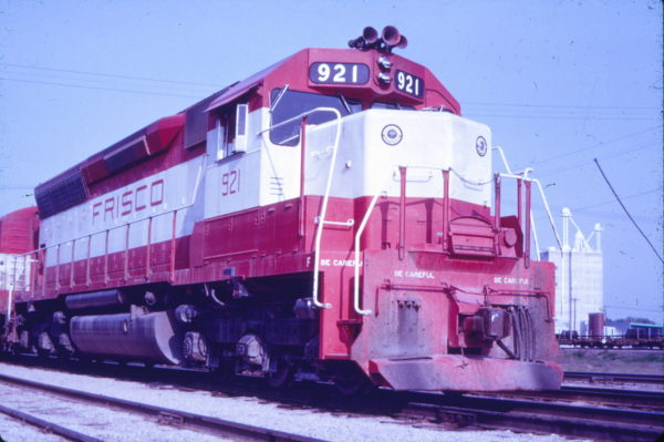 SD45 921 at Springfield, Missouri (date unknown) (Mac Owen - Blackhawk Films)