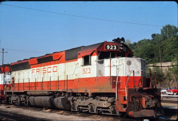 SD45 923 at Kansas City, Missouri on August 8, 1976 (James Primm)