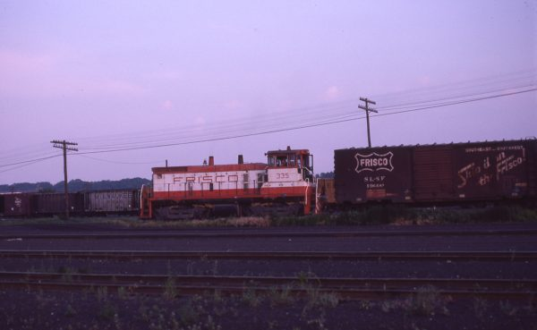 SW1500 335 at Kansas City, Kansas in June 1977