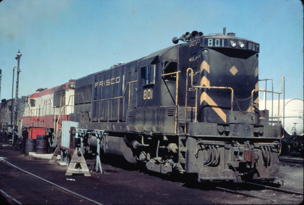 U25B 801 at Cheyenne, Wyoming in June 1968 (Charly's Slides)
