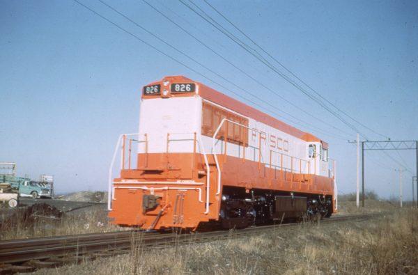U25B 826 at Erie, Pennsylvania on January 23, 1966