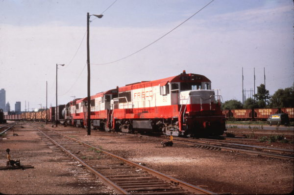 U25Bs 812 and 825 near Mobile, Alabama on July 9, 1969 (Al Chione)