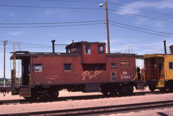Caboose 11584 (Frisco 1256) at North Platte, Nebraska on June 17, 1981