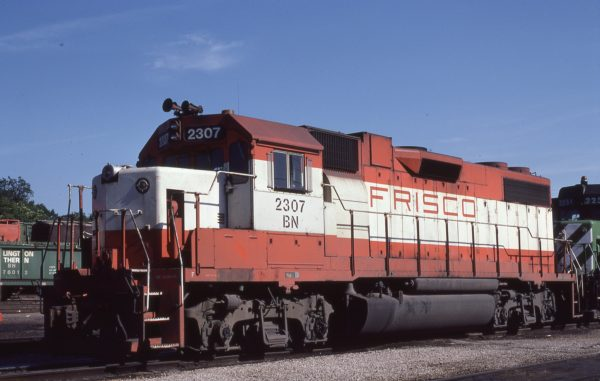 GP38-2 2307 (Frisco 452) at St. Louis, Missouri on May 21, 1981 (M.A. Wise)