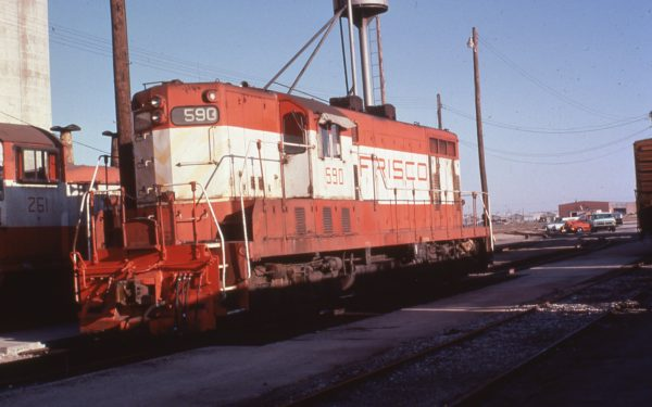 GP7 590 at Wichita, Kansas in 1979 (C.R. Scholes)