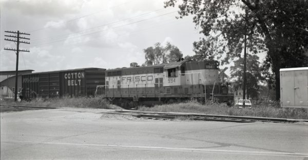 GP7 594 at Clinton, Missouri on July 18, 1973