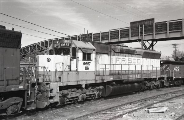 SD45 6657 (Frisco 907) (location unknown) in 1982