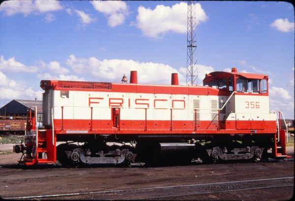 SW1500 356 at Springfield, Missouri in June 1973 (Golden Spike Productions)