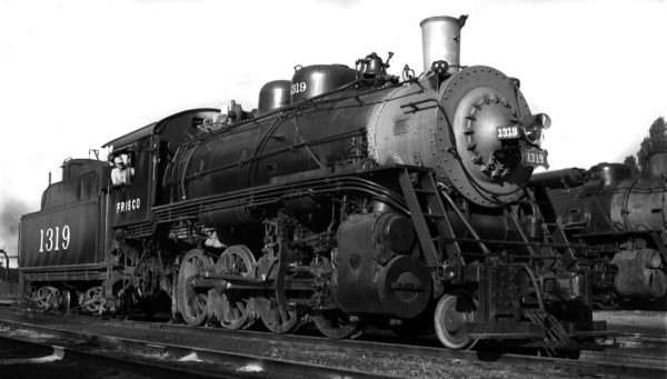 2-8-0 1319 at West Tulsa, Oklahoma (date unknown)