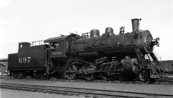 4-6-0 697 at Dallas, Texas on March 27, 1940