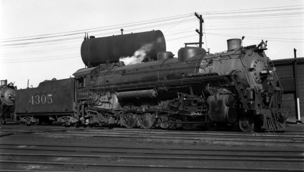 4-8-2 4305 at Lindenwood Yard, St. Louis, Missouri in 1941