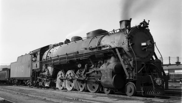 4-8-2 4402 (location unknown) on July 17, 1945